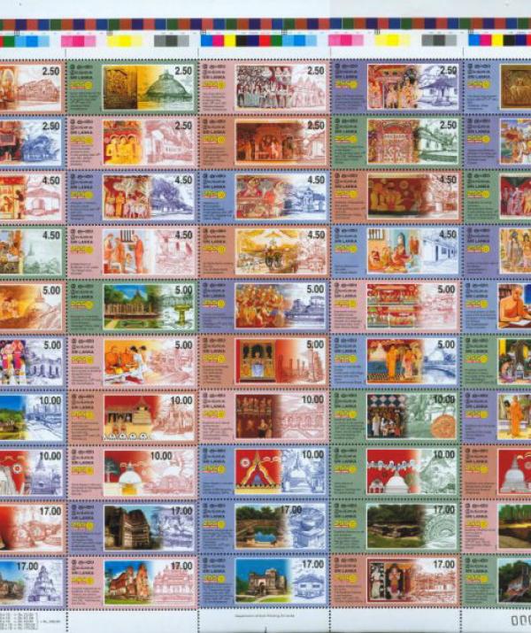Tu học Phật pháp - Bộ tem kỷ lục 50 mẫu về lịch sử Phật giáo Sri Lanka