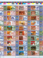 Bộ tem kỷ lục 50 mẫu về lịch sử Phật giáo Sri Lanka