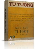 Tạp chí Tư Tưởng - Số 10 năm 1974