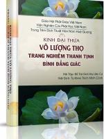 Kinh Phật thuyết Đại thừa Vô Lượng Thọ Trang Nghiêm Thanh Tịnh Bình Đẳng Giác