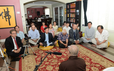 Dharma Talk at UBF Office with The Most Venerable Thich Duc Thang